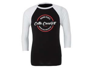 Celtic CrossFit | 3/4 Sleeve | White/Black