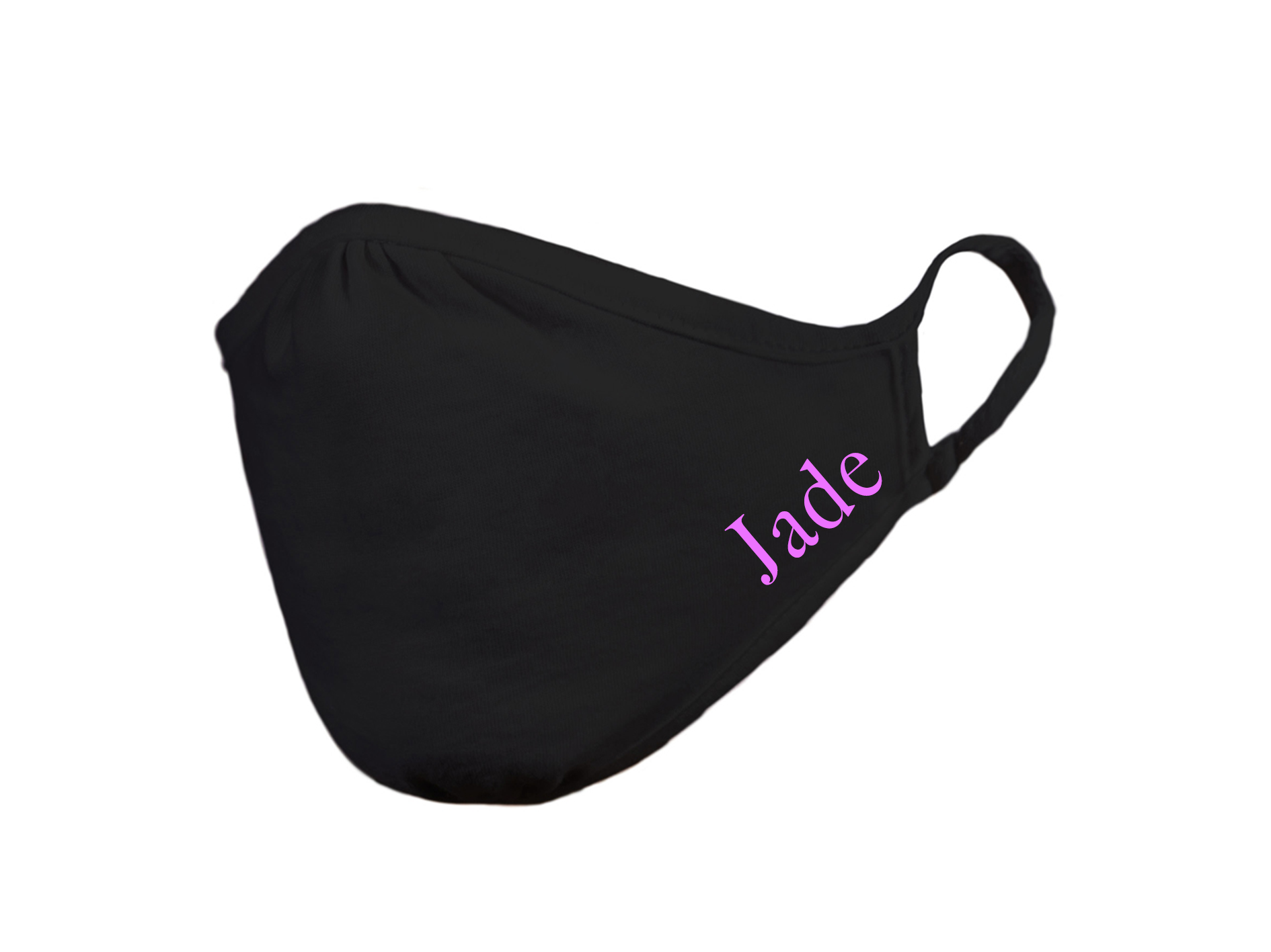 Face Mask | Personalised Kids |  Black