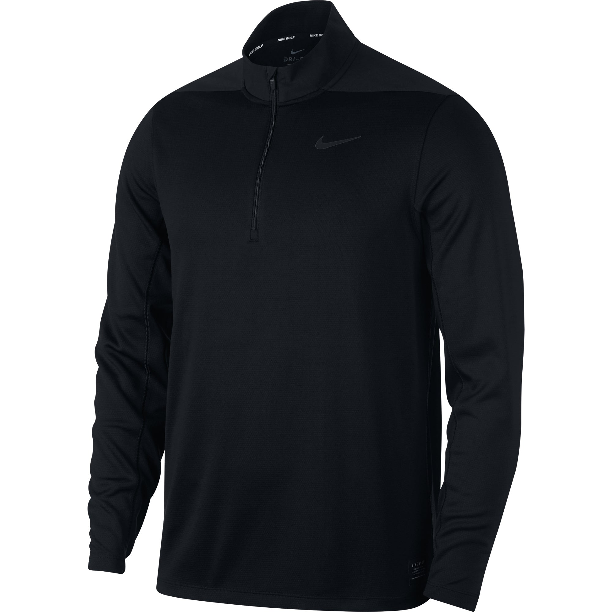 Nike Core Dri-Fit 1/2 zip top - Black