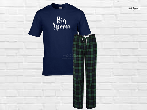 Tartan Pyjamas Green | Big Spoon