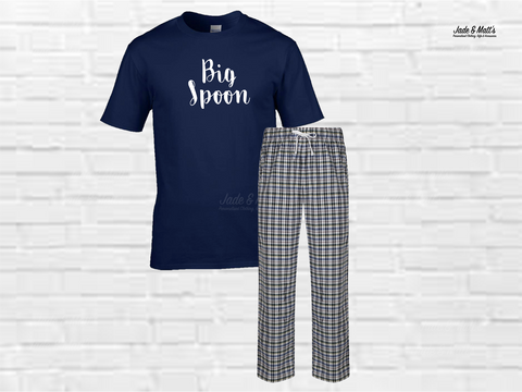 Tartan Pyjamas White check | Big Spoon
