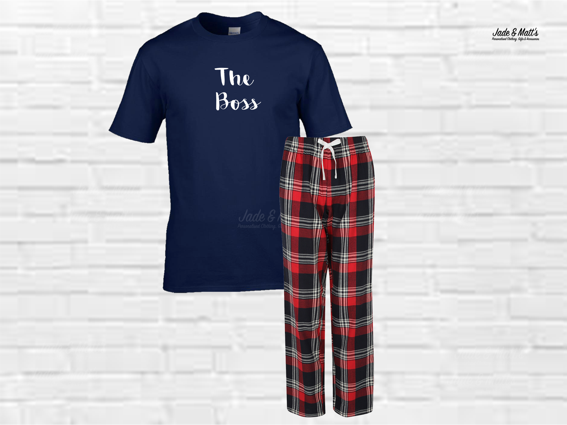 Tartan Pyjamas Red | The Boss