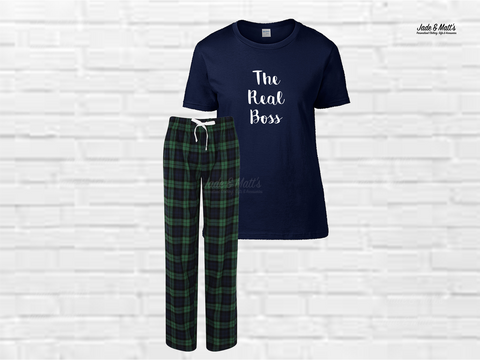 Tartan Pyjamas Green | The Real Boss