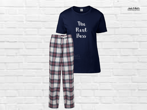 Tartan Pyjamas Pink Check | The Real Boss