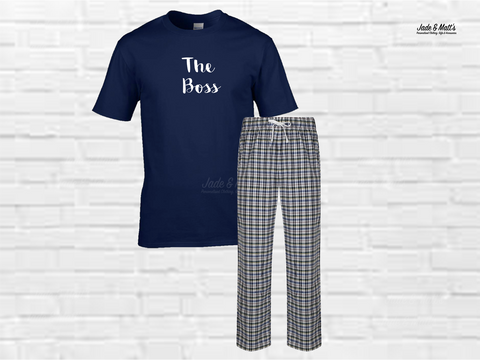 Tartan Pyjamas White Check | The Boss
