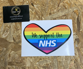 We Support the NHS Sticker | NHS Fundraiser