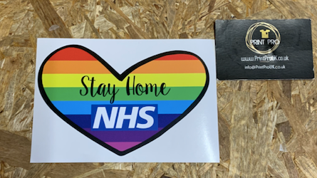 Stay Home Sticker | NHS Fundraiser
