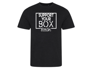 Celtic CrossFit | Support Your Box Men's T shirt | Black