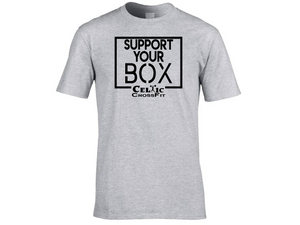 Celtic CrossFit | Support Your Box Men's T shirt | Grey