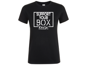 Celtic CrossFit | Support Your Box Women's T shirt | Black