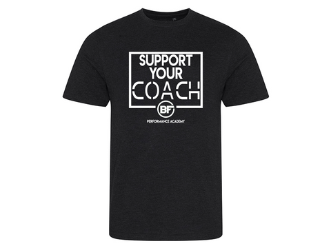 BFunctional | Support Your Coach Men's T shirt | Black