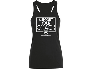 BFunctional | Support Your Coach Women's Vest | Black