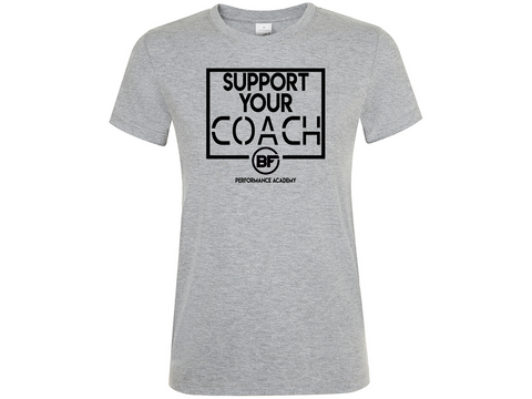 BFunctional | Support Your Coach Women's T shirt | Grey