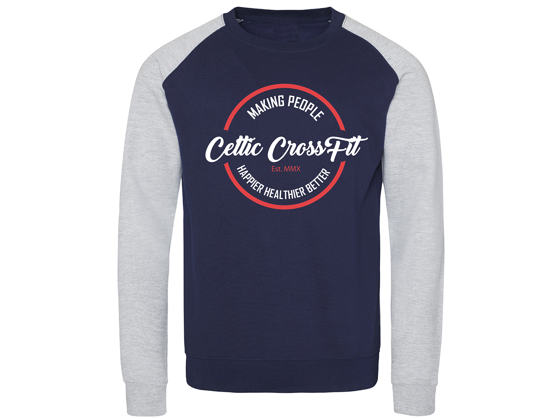 Celtic CrossFit | Unisex Sweatshirt | Navy/Grey
