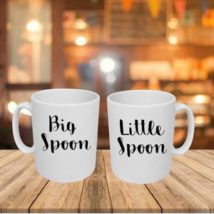 Couple's Mugs: Big spoon/Little spoon