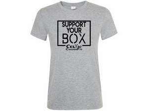 Celtic CrossFit | Support Your Box Women's T shirt | Grey