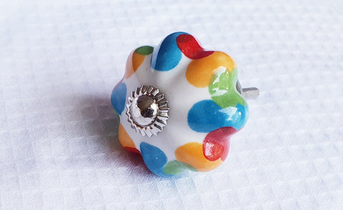 4cm Ceramic colorful funky stained beautiful door knobs