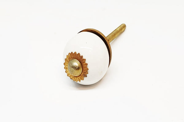 small 28mm ceramic white round door knobs pulls handles