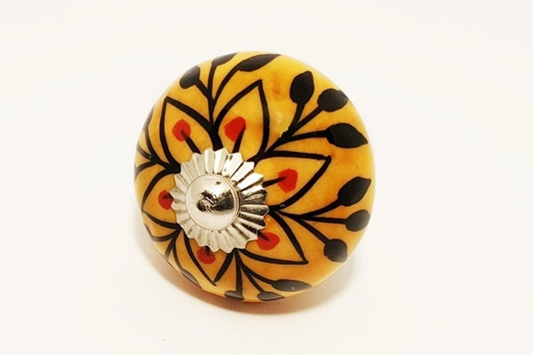 Ceramic orange/brown red unique round 4cm door knob pulls handles