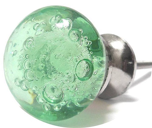 Shabby Chic Bubble Glass Green