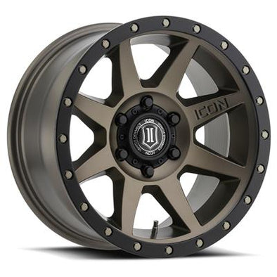 ICO1817858347BR - Icon Vehicle Dynamics 17x8.5 Rebound 6x5.5 Wheels 0 mm Offset