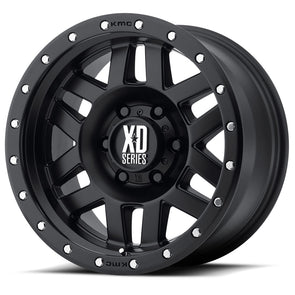 XD12879068712N - 2019-2020 Ford Ranger KMC-XD 17x9 Machete Satin Black With Reinforced Ring 6x5.5