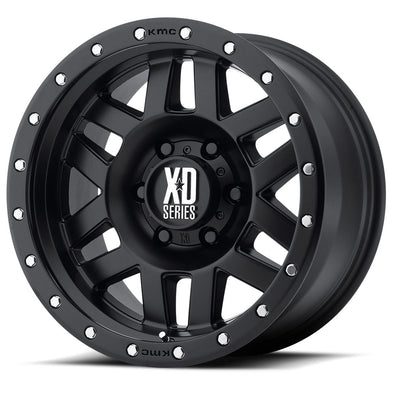 XDWXD12879068712N - 2019-2021 Ford Ranger KMC-XD 17x9 Machete Satin Black With Reinforced Ring 6x5.5