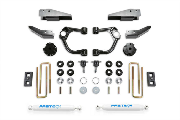 "K2323 - 2019-2020 Ford Ranger FabTech 3.5"" UCA Lift Kit with Intrusion Beams"