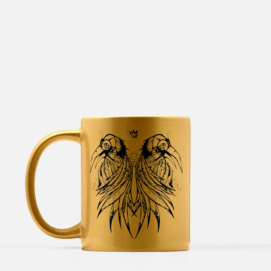 FluxxCo_Royal_Raven_Metallic_Mug_Gold_Left