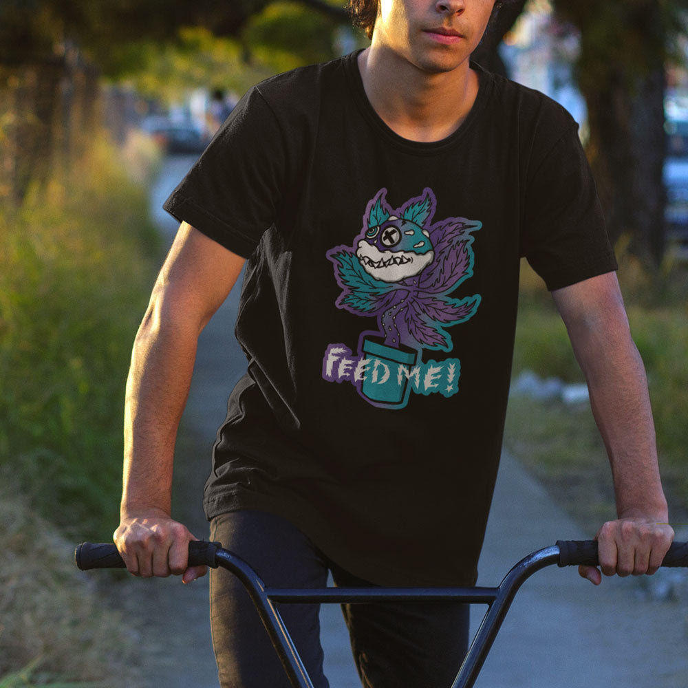 FluxxCo_Feed_Me_Tee_Black_young_man_riding_BMX_bike