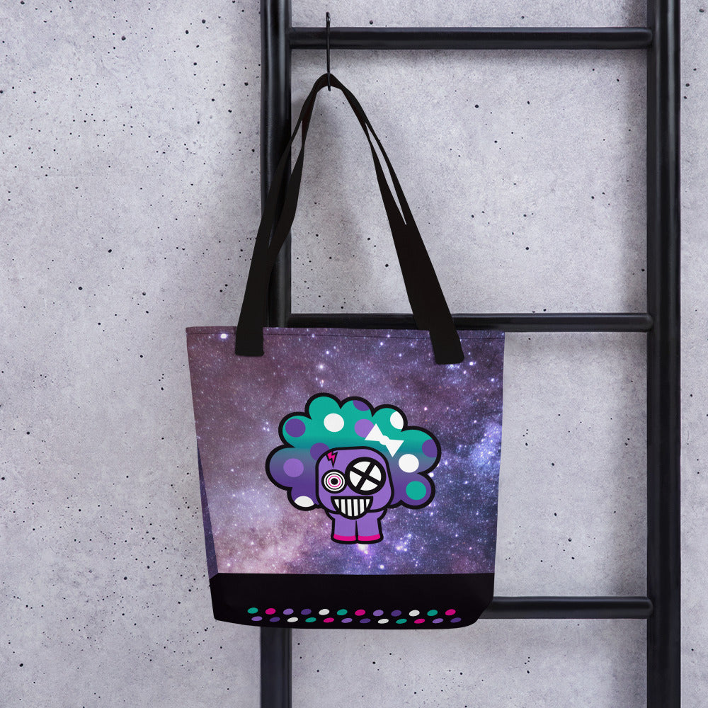 Polka Puff Galaxy Tote bag