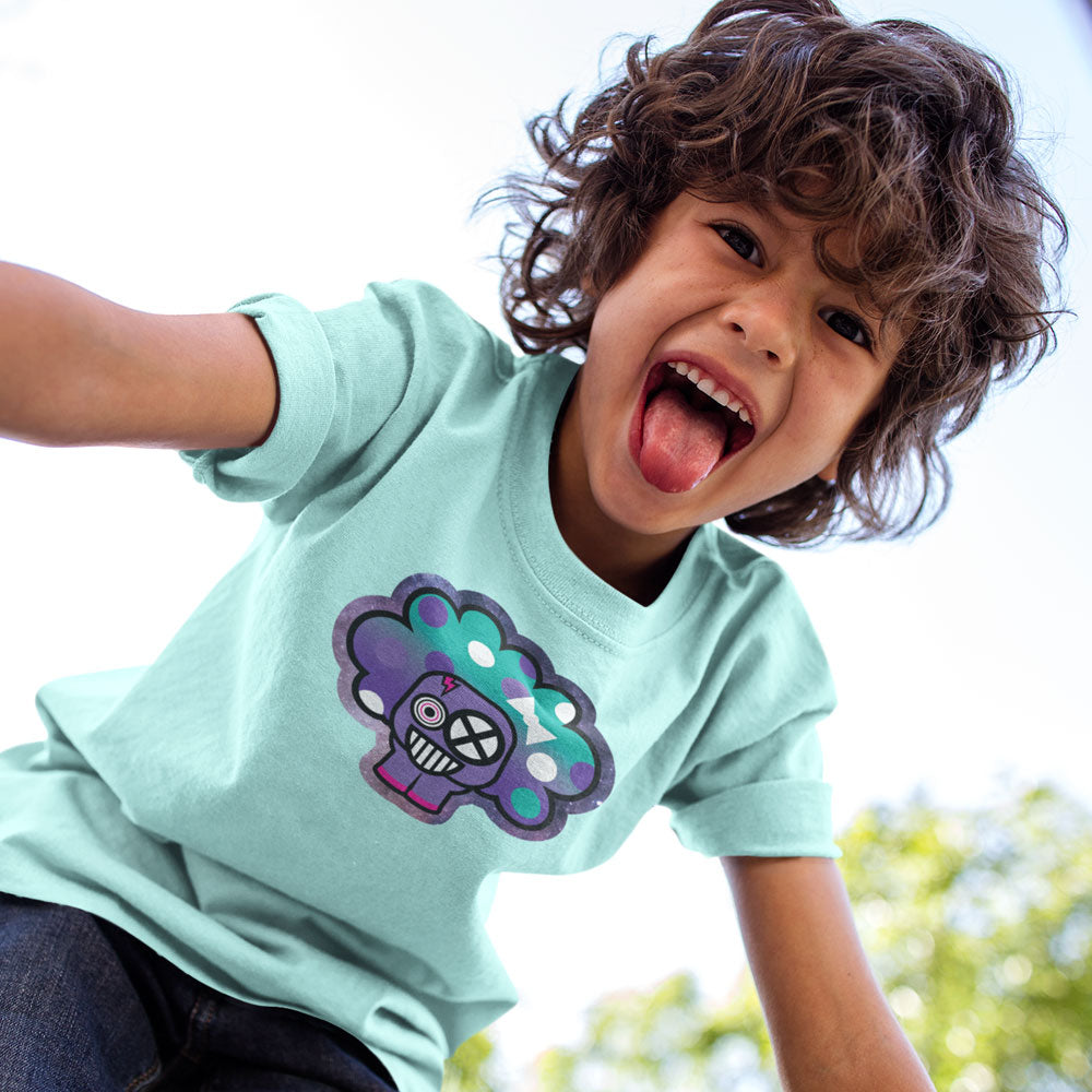 Polka Puff Galaxy Youth Tee Teal
