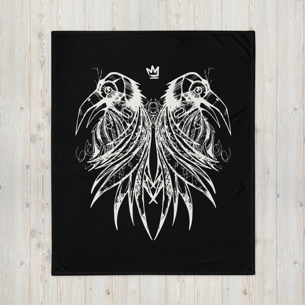 Fluxx Collective Royal Raven Throw Blanket