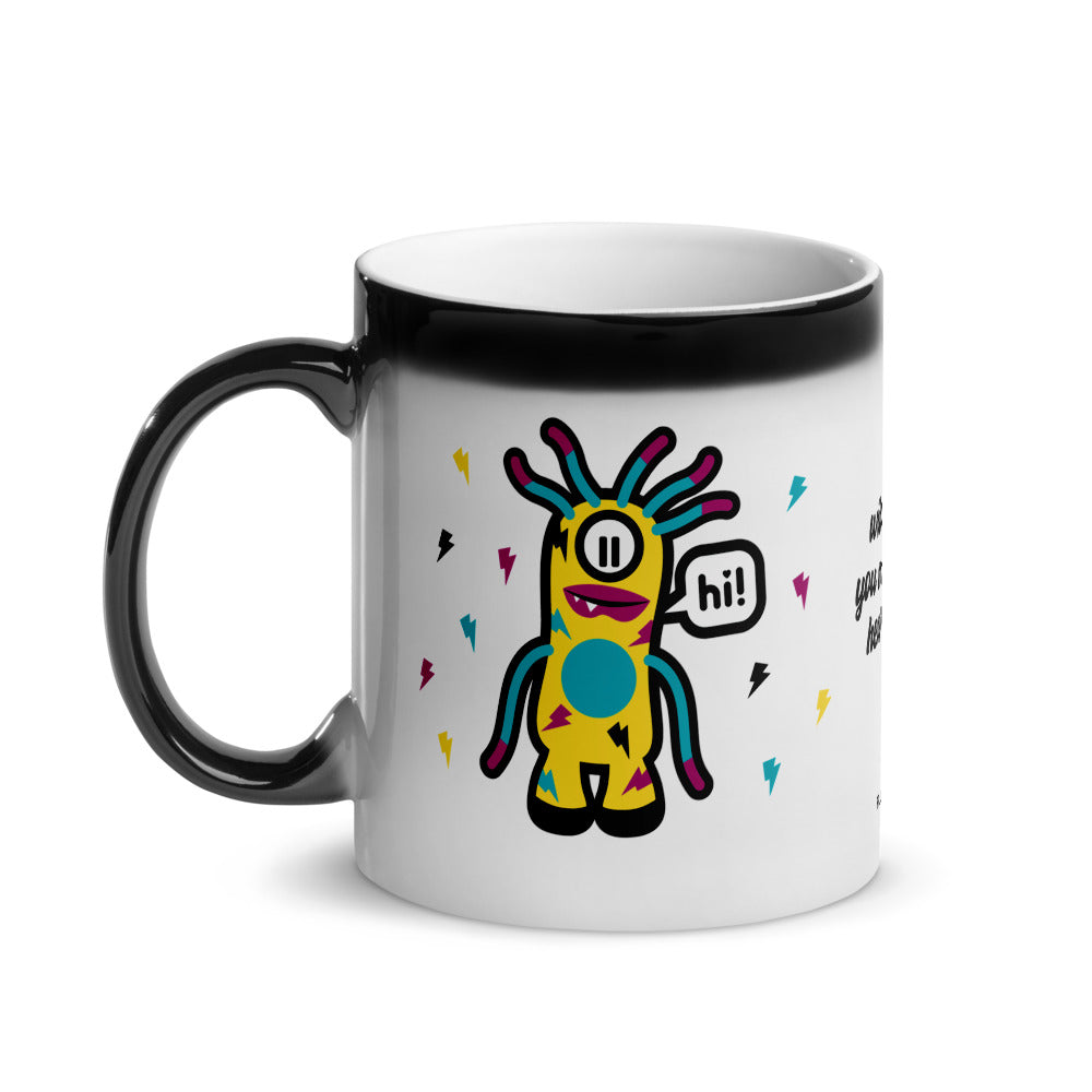 Fluxx Co Wild Fang Heart Sing Glossy Magic Mug Left