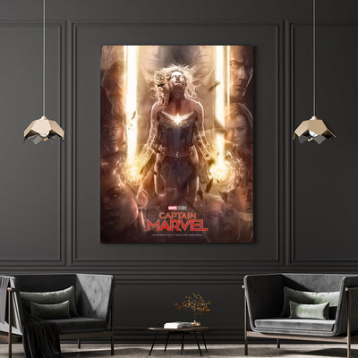 Captain Marvel canvas bosslogic