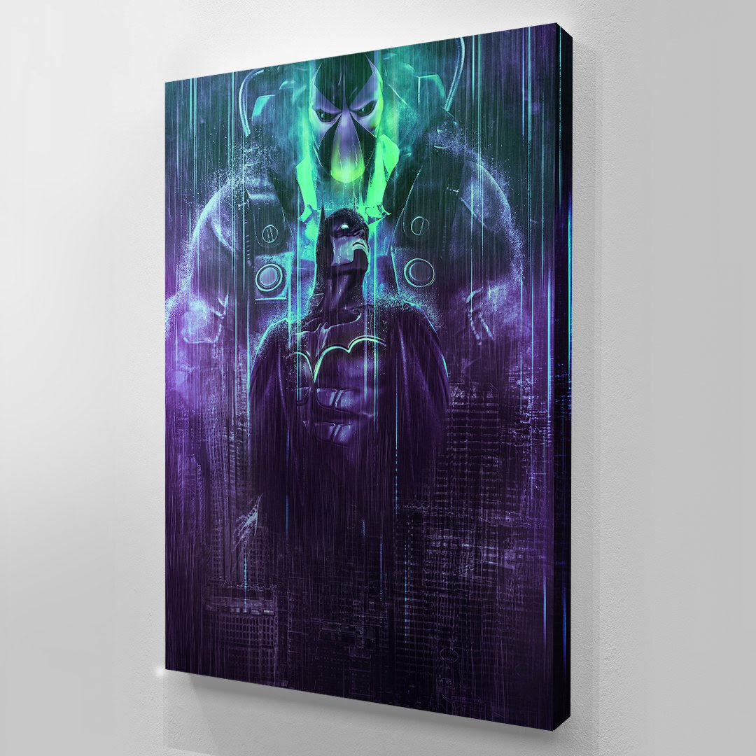 Neon Gotham - Batman - Art Print BossLogic