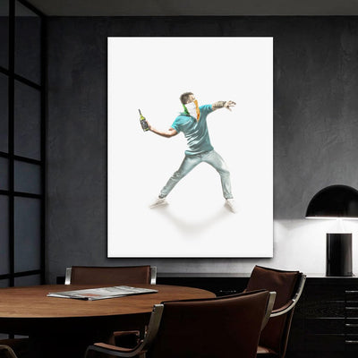 Throwing Man - Art Print BossLogic