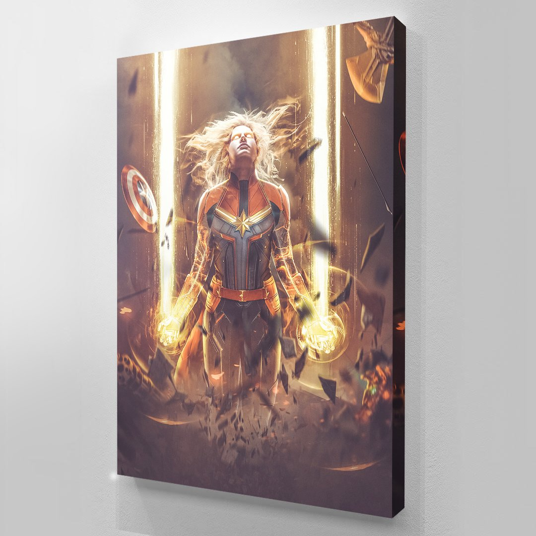 Captain Marvel - Art Print BossLogic