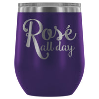 'Rose All Day' Stemless Wine Tumbler (12oz Stainless Steel)