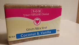 COCONUT & VANILLA GOATS MILK SOAP - 100gm