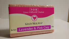 LAVENDER & PINK CLAY GOATS MILK SOAP - 100gm