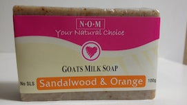 SANDALWOOD & ORANGE GOATS MILK SOAP - 100gm