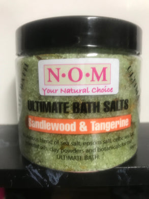 NOM - SANDALWOOD & TANGERINE ULTIMATE BATH SALTS 500gm
