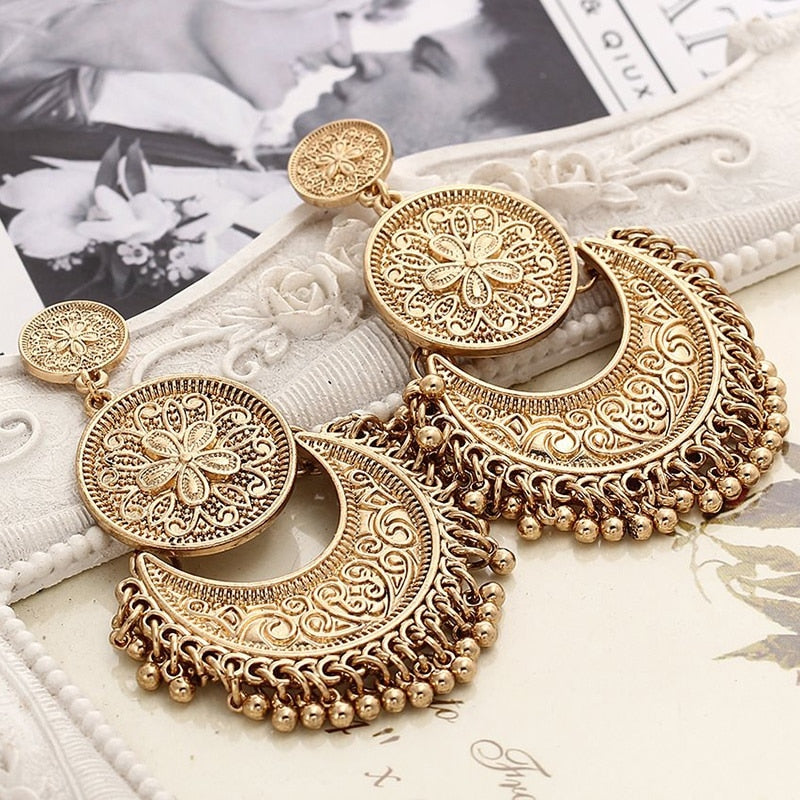 Beautiful Indian Style Dangle Earrings
