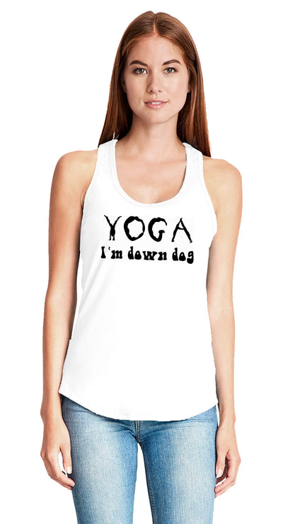 "Yoga Tank - ""I'm Down Dog"""