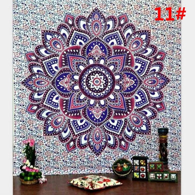 Lucky Elephant Indian Mandala Tapestry
