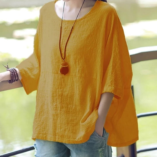 Soft Simple Linen Top