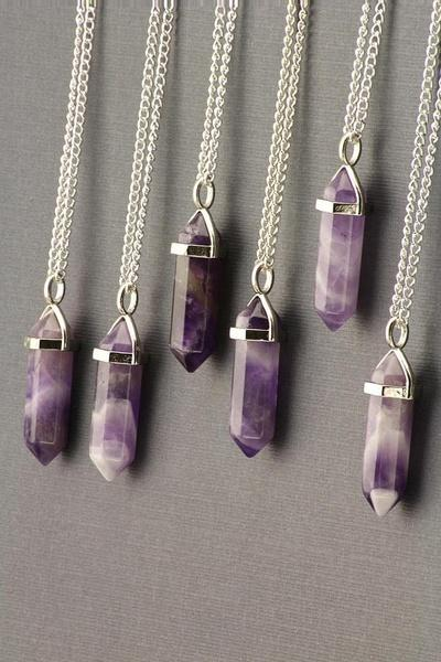 Healing Crystal Necklace - Amethyst