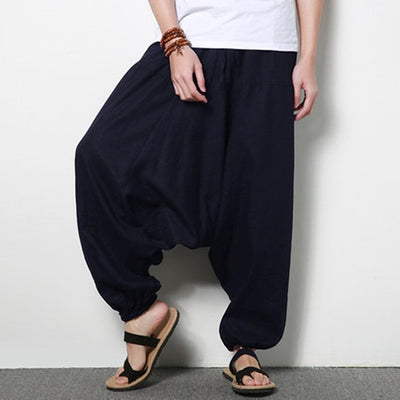 Mens Harem Pants - Solid Color - All Natural 100% Cotton