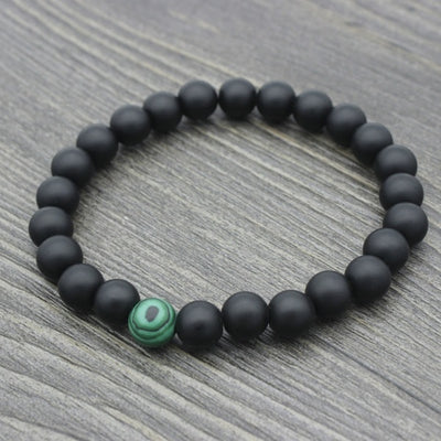 Sakhya Rasa Friendship Forever Bracelet Set                          Malachite/Onyx